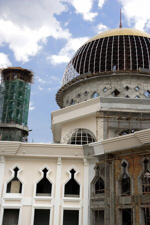 Image of a large mosque under construction. Stock Photo - 4113978
