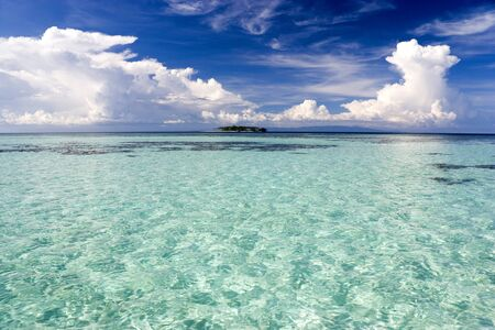 Image of the shallow open sea in Malaysian waters. photo