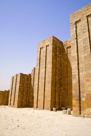 djoser: Image of the Perimeter Wall of the Step Pyramid of Djoser, Saqqara, Egypt.