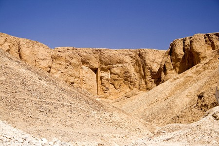 geological formation: Image of geological formation at the Valley of the Kings, Egypt.