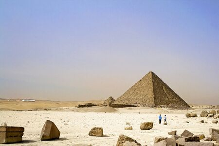 Image of the Great Pyramids of Egypt. photo