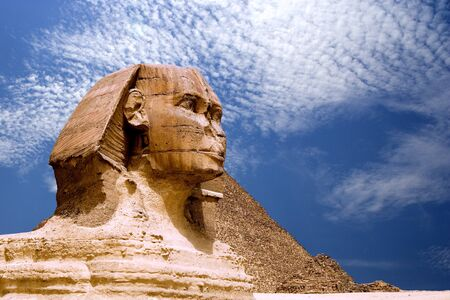 The Sphinx and The Great Pyramid of Egypt. photo