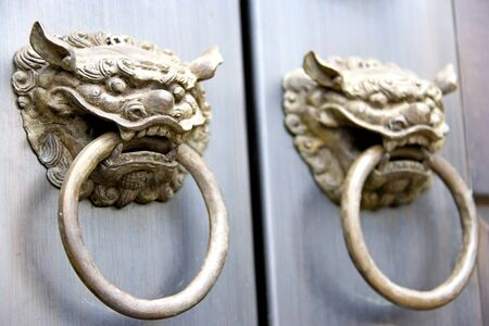 Image of a Chinese temple door in Malaysia. Stock Photo - 4114010