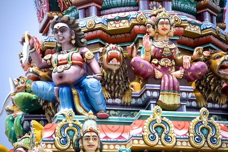 Image of a Hindu temple in Malaysia. Stock Photo - 4114038