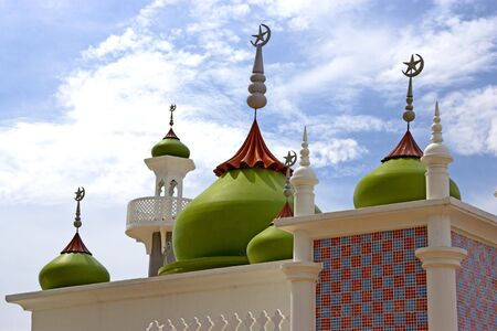 pattani thailand: Imagen de una mezquita en Pattani, Tailandia.