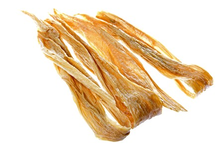 bean curd: Isolated image of soya bean curd strips.