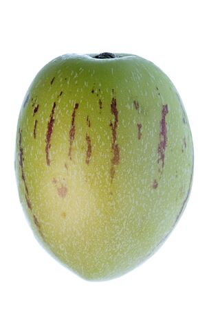 pepino: Isolated macro image of a pepino dulce or melon pear. Stock Photo