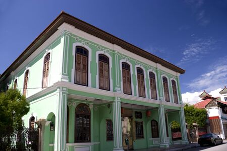 Penang Peranakan Mansion located at UNESCOs World Heritage site of Georgetown, Penang, Malaysia. Stock Photo