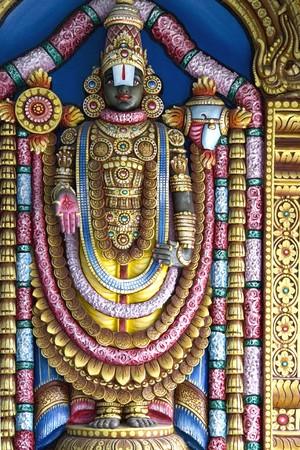 deity: Hindu deity at a Hindu temple in Malaysia.