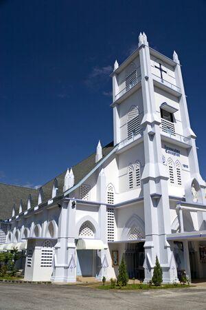 immaculate: Iglesia de la Inmaculada Concepci�n, construida en el siglo 19 y a�n se utiliza hoy en d�a. Ubicado en el sitio del Patrimonio Mundial de la UNESCO de Georgetown, Penang, Malasia. Foto de archivo