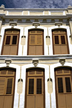 unesco world cultural heritage: Old building located at UNESCOs World Heritage site of Georgetown, Penang, Malaysia.