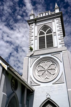 georgetown: Wesley Methodist Church, built in the early 20th century. Located at the UNESCO World Heritage site of Georgetown, Penang, Malaysia. Stock Photo