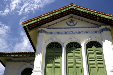georgetown: Old residential building known as the Syed Alatas Mansion located at UNESCOs World Heritage site of Georgetown, Penang, Malaysia. The architecture of this building shows some islamic influence.