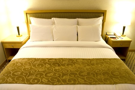 Image of a comfortable looking bed.