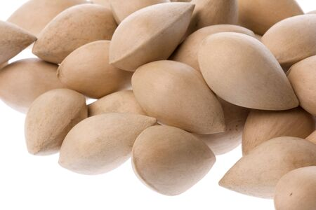 Isolated macro image of Ginkgo nuts.
