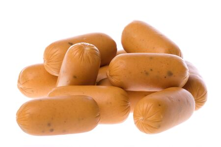 Isolated image of chicken sausages (chicken pizza cocktail).