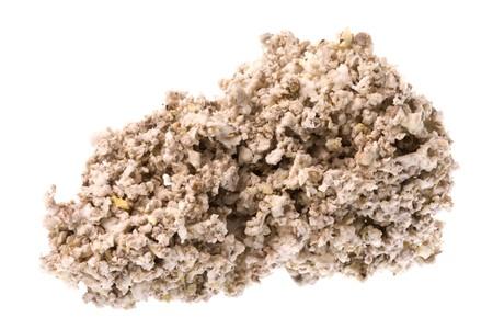 eventually: Isolata macro immagine del greggio gomma briciole che sar� forno secchi per la produzione di gomma tecnicamente merce gradi. Archivio Fotografico