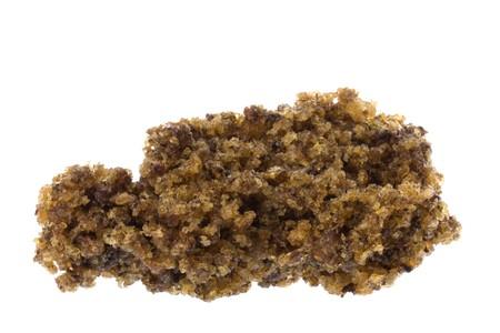 eventually: Isolata macro immagine del forno secchi crudo gomma briciole che vengono utilizzati per produrre merce tecnicamente gomma gradi.
