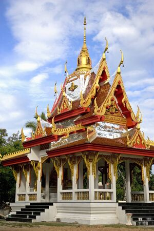 Wat Buppharams Rice Pagoda located at UNESCOs World Heritage site of Georgetown, Penang, Malaysia. photo