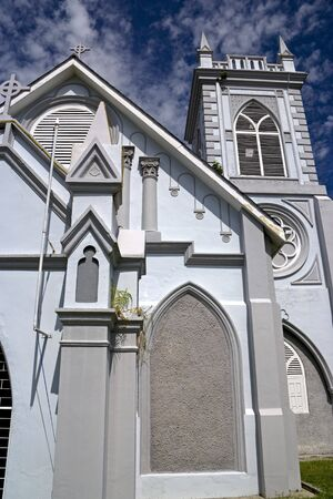 methodist: Wesley Methodist Church, built in the early 20th century. Located at the UNESCO World Heritage site of Georgetown, Penang, Malaysia. Stock Photo