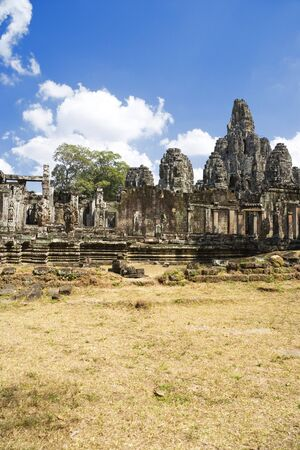 croft: Image of UNESCOs World Heritage Site of Bayon, which is part of the larger temple complex of Angkor Thom, located at Siem Reap, Cambodia. This is one of the temples in Siem Reap where the Hollywood movie Lara Croft Tomb Raider was filmed at.