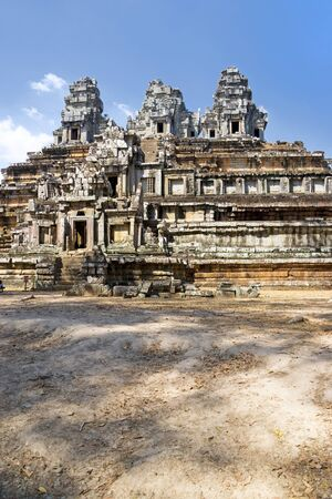 cambodia sculpture: Image of UNESCOs World Heritage Site of Ta Keo, located at Siem Reap, Cambodia. Stock Photo