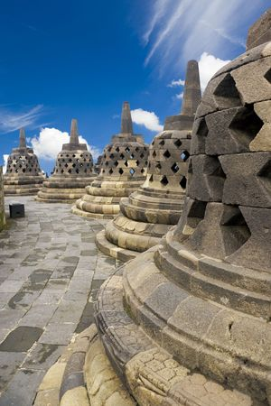 Image of UNESCOs World Heritage Site of Borobudur, the worlds largest and amongst the oldest Buddhist temple, located at Yogyakarta, Indonesia. photo