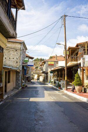 arcadia: Street scene at Vytina Village, Arcadia, Greece.
