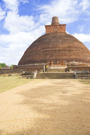 dagoba: Image of UNESCOs World Heritage Site of Jetavana Dagoba, located at Anuradhapura, Sri Lanka. This massive 1,600 year old structure is the tallest stupa in Sri Lanka, standing majestically at 122 meters tall. It is also the tallest brick structure in the