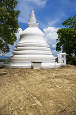 Image of the ancient Buddhist Lankathilaka Viharaya Temple stupa, at Kandy, Sri Lanka. photo