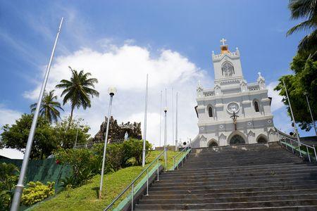conception: Image of the Dutch era Church of Immaculate Conception at Kalutara, Sri Lanka. Stock Photo