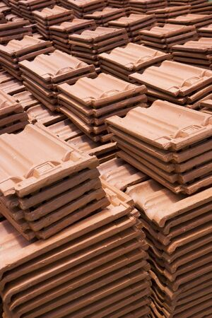 rooftiles: Image of Sri Lankan handmade roof tiles. Stock Photo