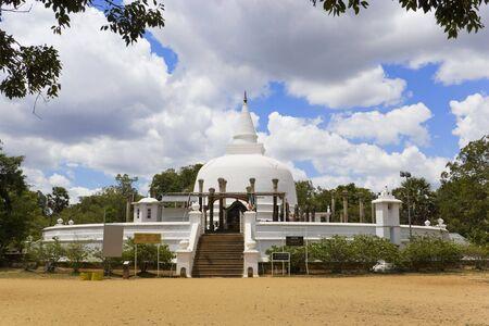 anuradhapura: Image of UNESCOs World Heritage Site of Lankaramaya, located at Anuradhapura, Sri Lanka. This stupa was built by King Vattagamini Abaya (Walagamba)  (89-77 BC).