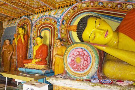 3rd century: Image of Buddha statues at the ancient 3rd century Isurumuniya Temple, Anuradhapura, Sri Lanka. This is a UNESCO World Heritage Site.