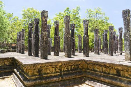 pavillion: Image of the Pavillion at Alahana Parivena, Polonnaruwa, Sri Lanka. Built by King Parakramabahu the Great (1153-1186). This is a UNESCO World Heritage site.