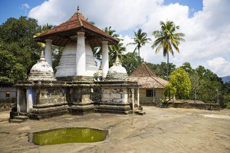 reign: Image of the ancient Buddhist Gadaladeniya Raja Maha Vihara Temple, at Kandy, Sri Lanka. This temple dates back to the reign of King Bhuvanekabahu IV (1341-1351) of Gampola.