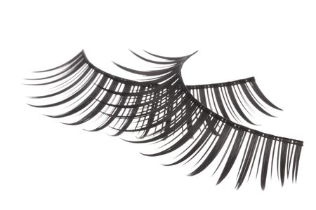Isolated macro image of artificial eyelashes. Stock Photo - 5818742