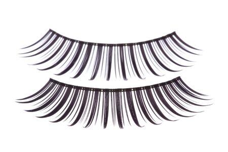 Isolated macro image of artificial eyelashes. Stock Photo - 5818743