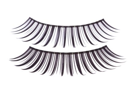 Isolated macro image of artificial eyelashes. Stock Photo - 5818743