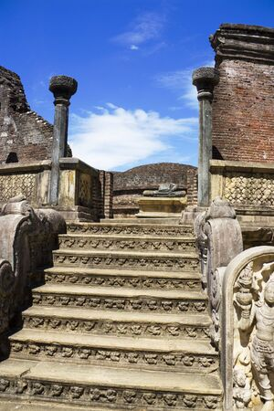 Image of the ancient Vatadage at Polonnaruwa, Sri Lanka. photo
