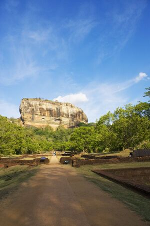 Image of UNESCO's World heritage site of Sigiriya (Lion's Rock), Sri Lanka. This is an ancient rock fortress and palace ruin built during the reign of King Kassapa I (477-495 AD). Stock Photo - 5820791