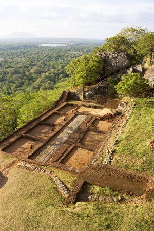 Image of a section of Sigiriya (Lions Rock), Sri Lanka.  photo