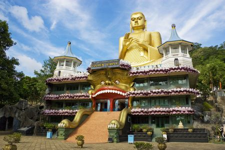 Image of Golden Temple at Dambulla, Sri Lanka.