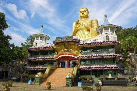 Image of Golden Temple at Dambulla, Sri Lanka.