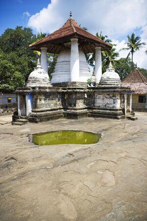 vihara: Image of the ancient Buddhist Gadaladeniya Raja Maha Vihara Temple, at Kandy, Sri Lanka.