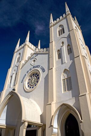 francis: St. Francis Xaviers Church, built in 1849 and still being used at Malacca, Malaysia.