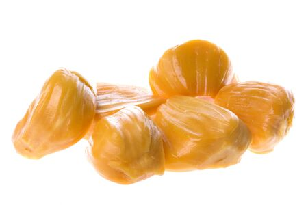Isolated macro image of Jackfruits. Stock Photo
