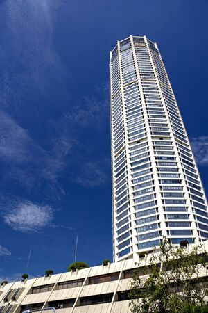 Image of a the tallest building in UNESCOs World Heritage Site of Georgetown, Penang, Malaysia. Stock Photo