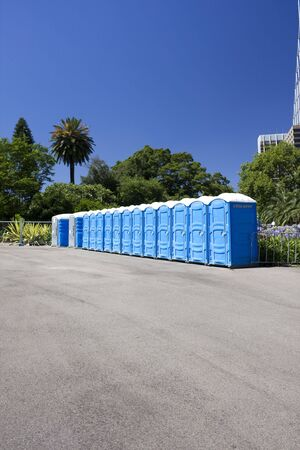 Image of public toilets in a row. Stock Photo - 5821886