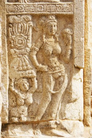 dagoba: Image of an ancient bass-relief at UNESCOs World Heritage Site of Jetavana Dagoba, located at Anuradhapura, Sri Lanka. Jetavana Dagoba is a massive 1,600 year old structure which is the tallest stupa in Sri Lanka, standing majestically at 122 meters tall